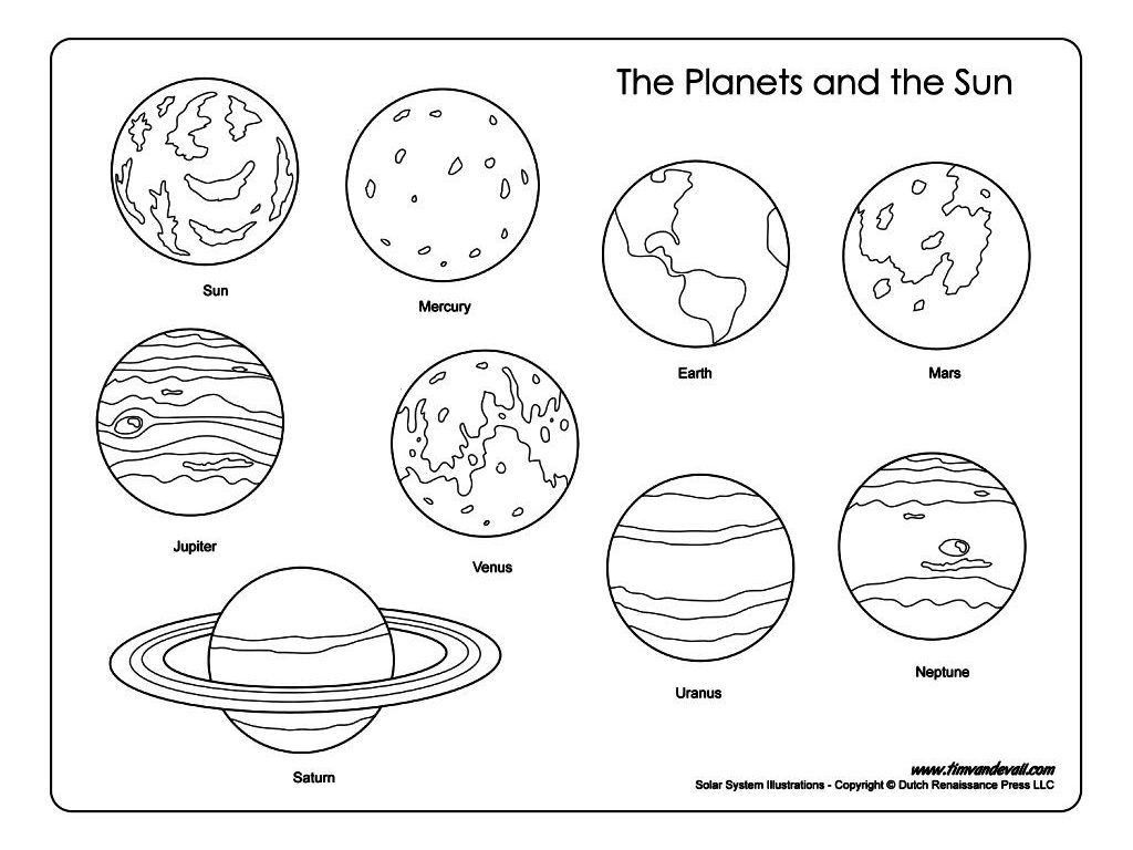 Solar System Coloring Pages At Getdrawings