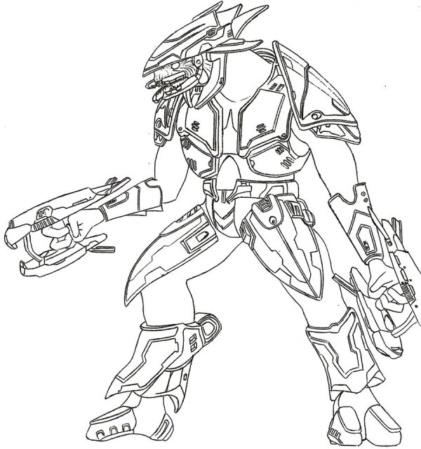 coloring pages halo # 58