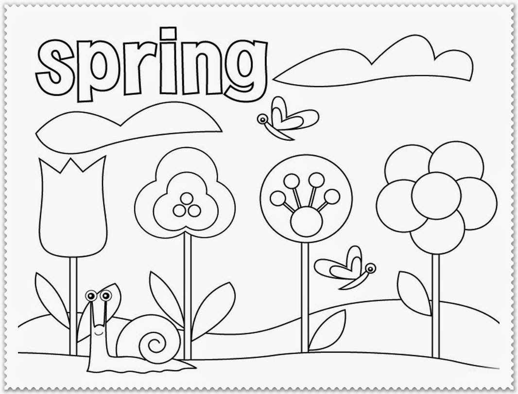 Spring Coloring Pages For First Grade At Getdrawings
