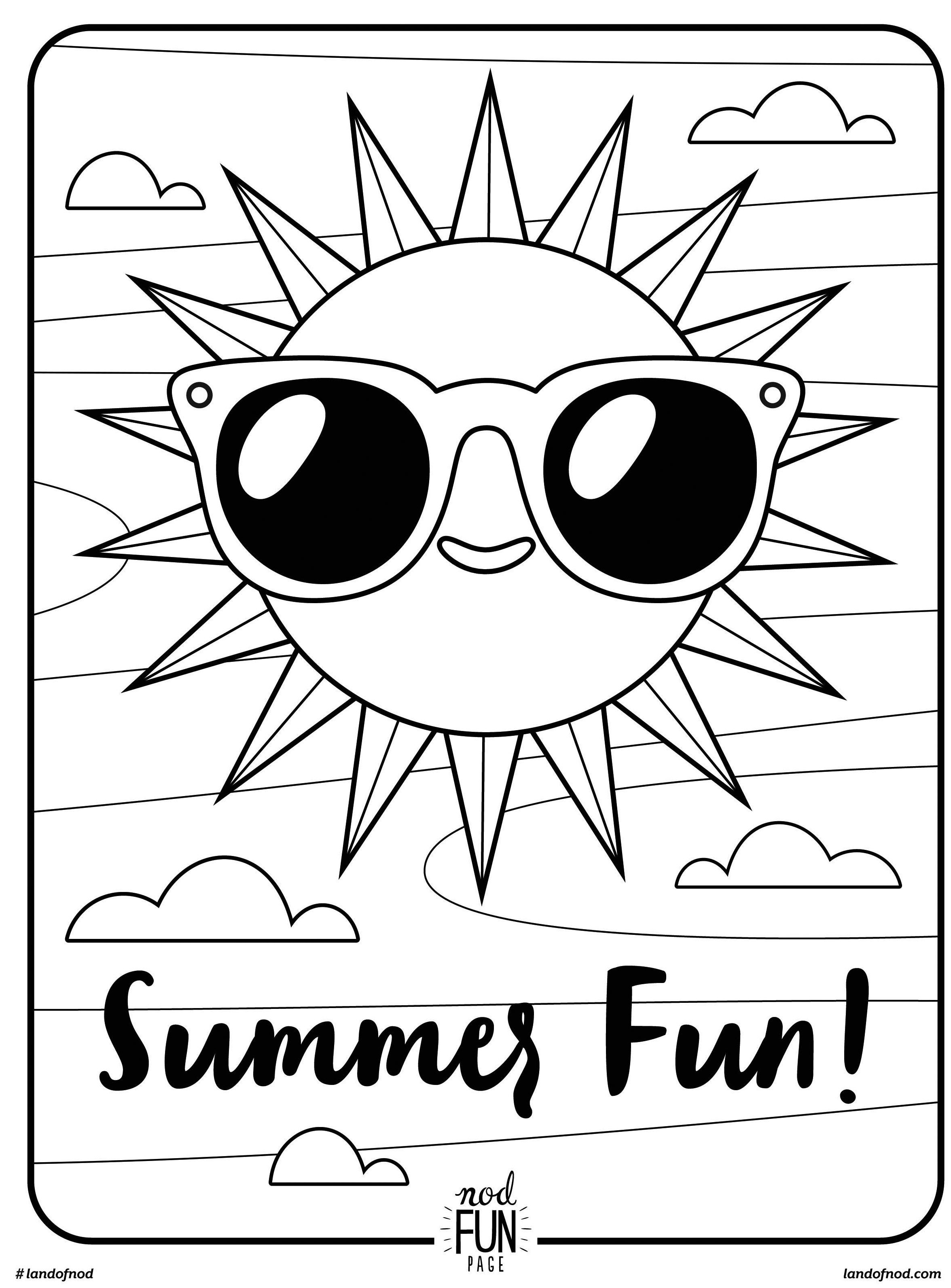 Summer Coloring Pages For Kids At Getdrawings