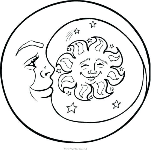 sun and moon coloring pages # 32