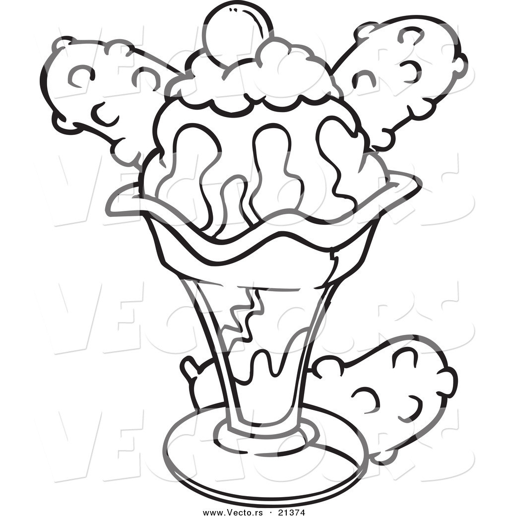 The Best Free Sundae Coloring Page Images Download From