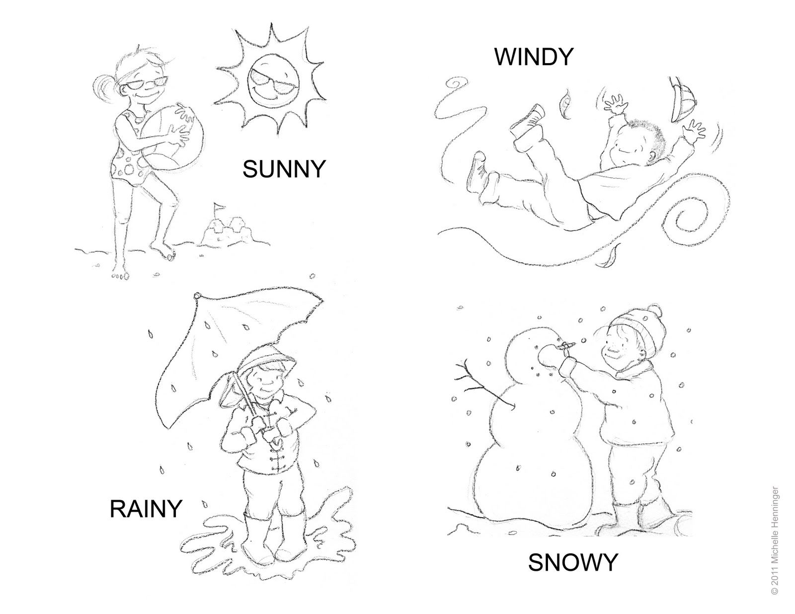 Sunny Weather Coloring Pages At Getdrawings
