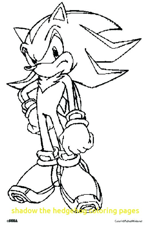 shadow the hedgehog coloring pages # 13