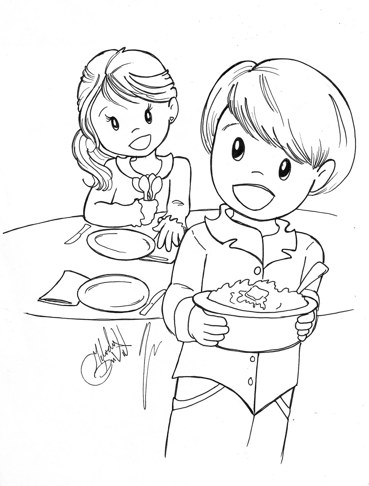 Table Setting Coloring Page At Getdrawings