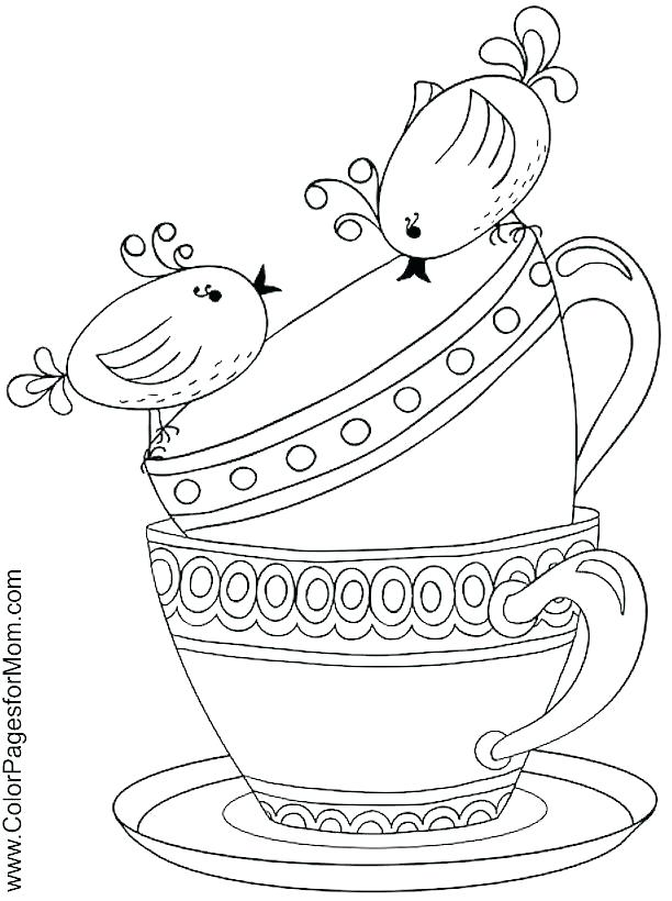 tea party coloring pages at getdrawings  free download