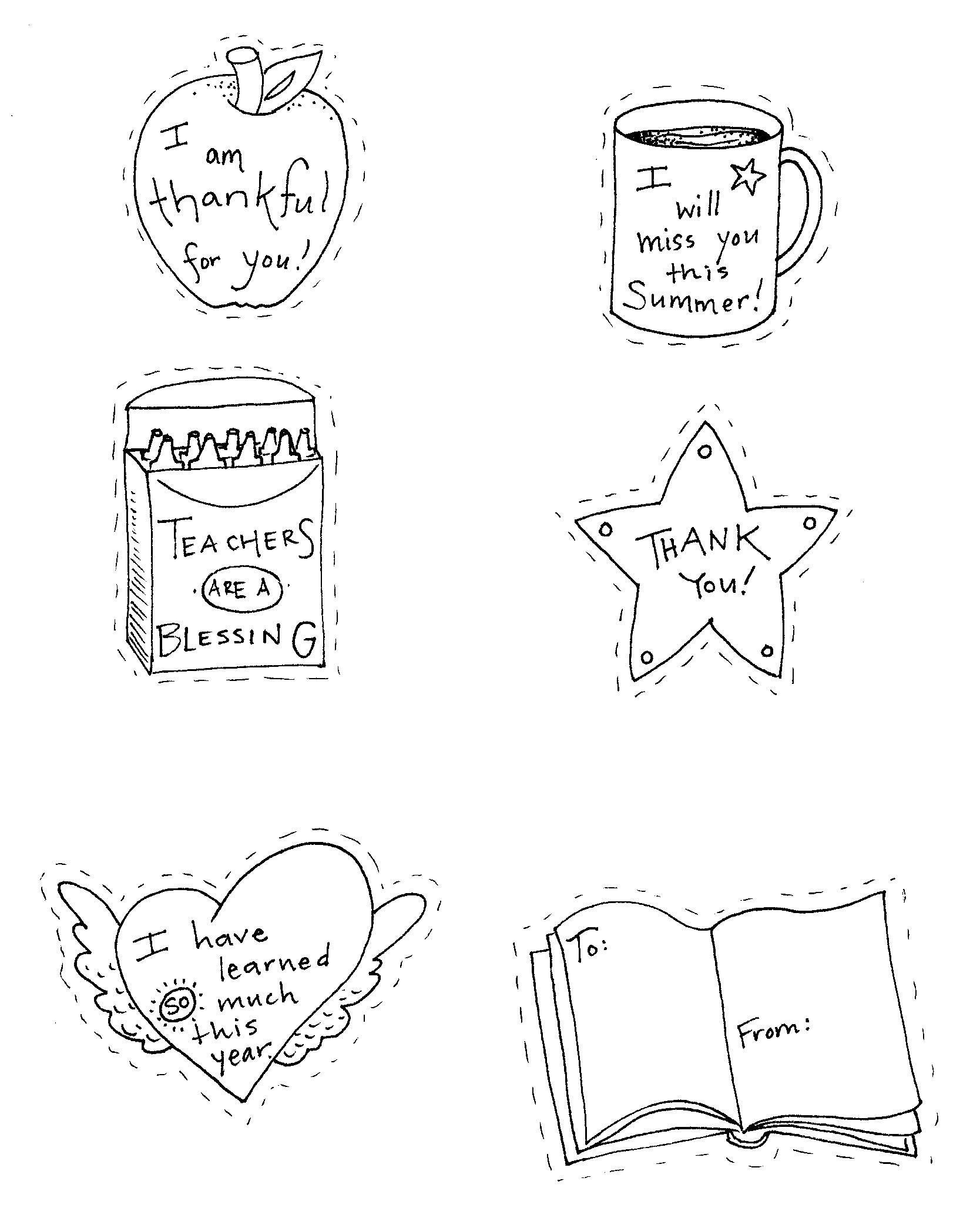 Teacher Appreciation Coloring Pages Printable At