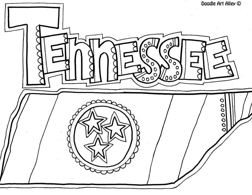 Tennessee Coloring Pages At Getdrawings