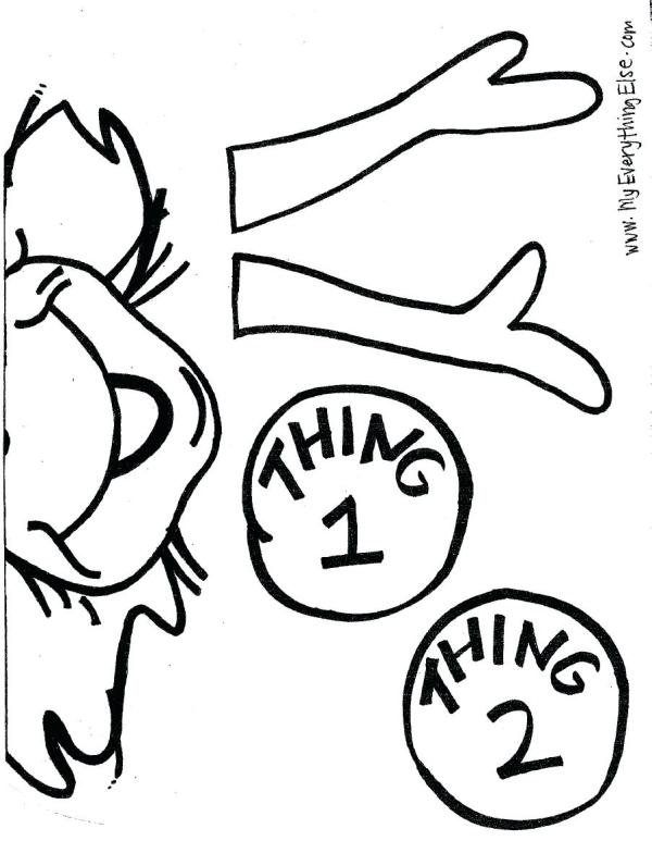 thing 1 and thing 2 coloring pages # 19