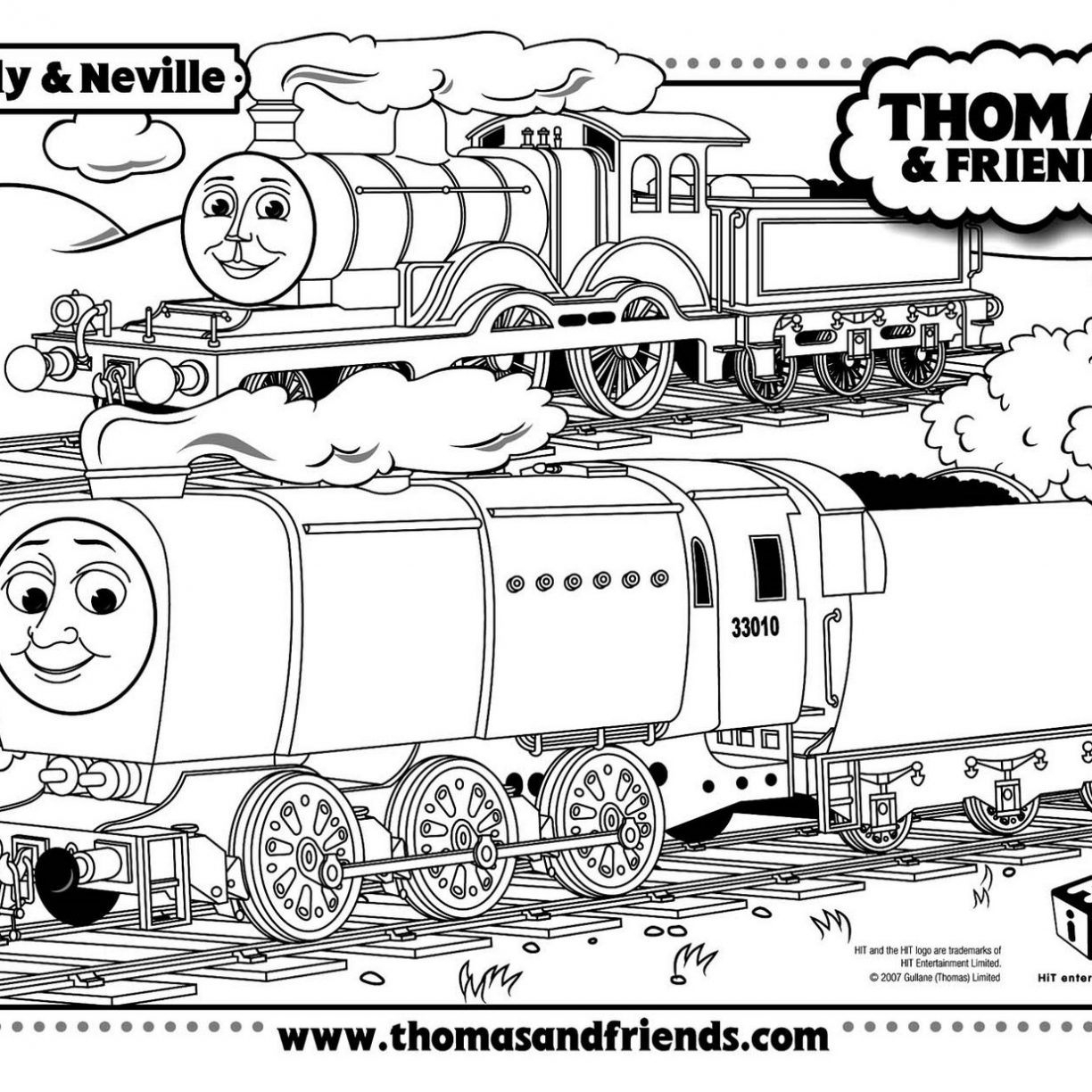 Thomas The Train Christmas Coloring Pages At Getdrawings
