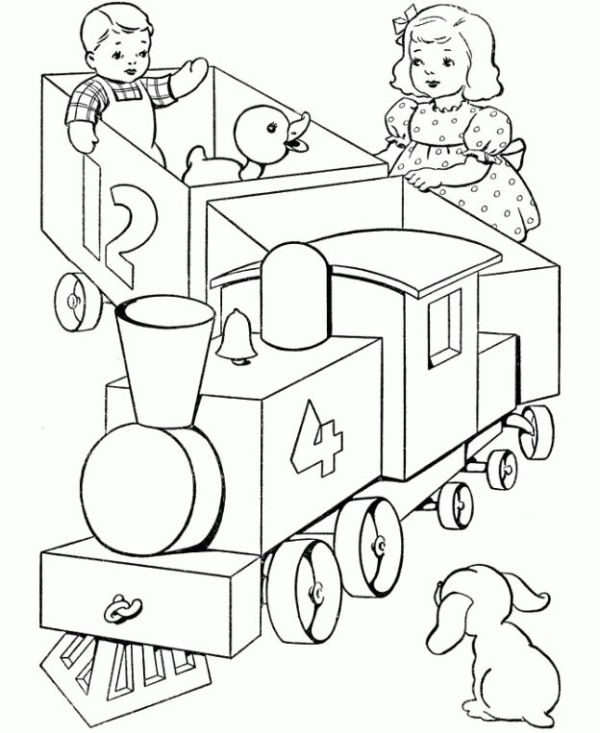 train coloring pages printable # 40