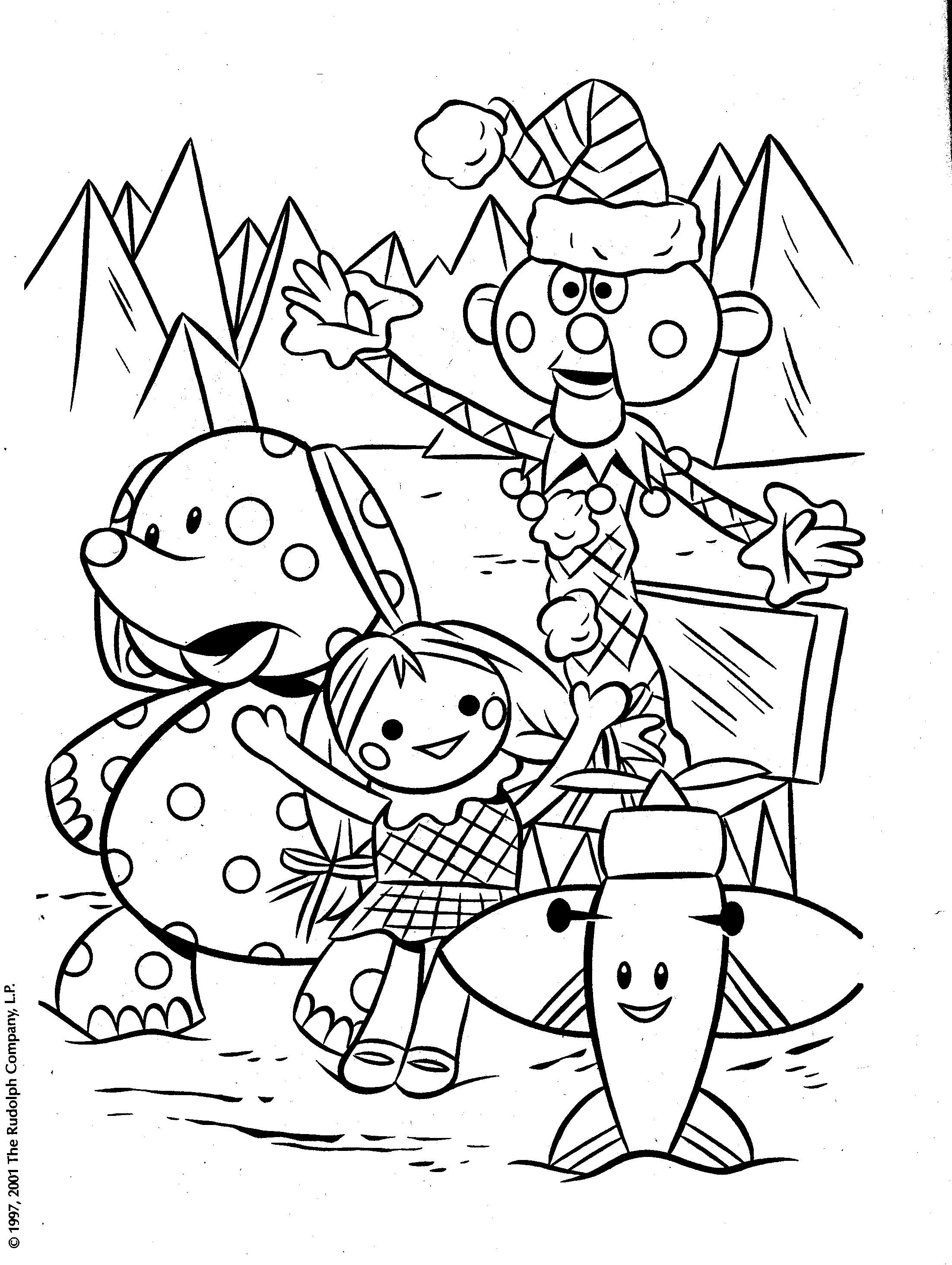 The Best Free Rudolph Coloring Page Images Download From