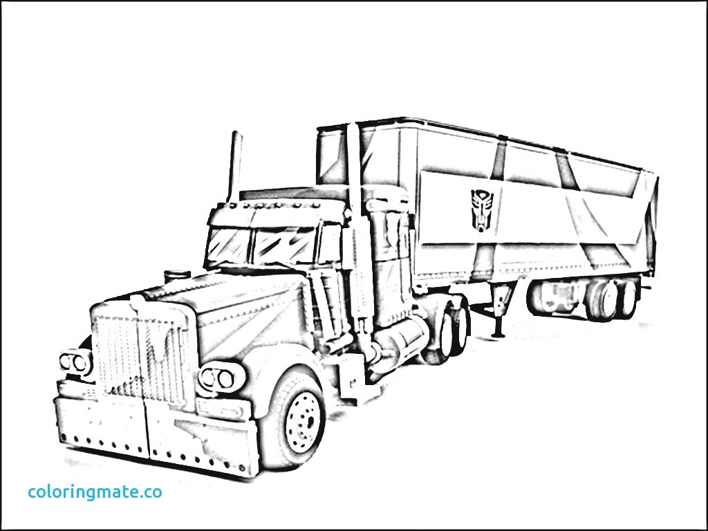 Trailer Truck Coloring Pages At Getdrawings
