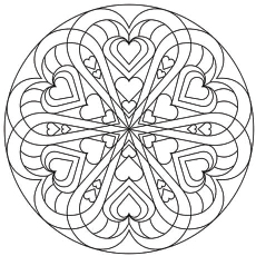 printable valentines day coloring pages # 30
