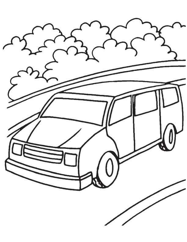 Vans Popular Easy Coloring Pages Van Coloring Page Free