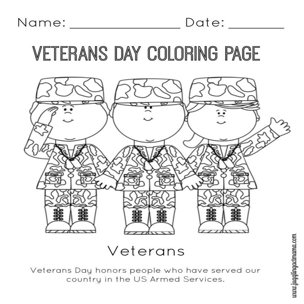 Veterans Day Coloring Pages Kindergarten At Getdrawings