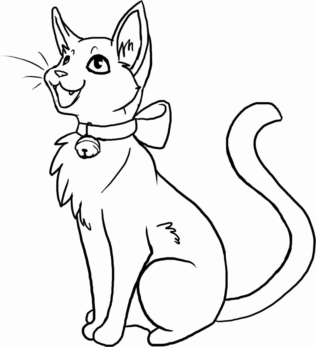 Anime Cats Coloring Pages At Getdrawings