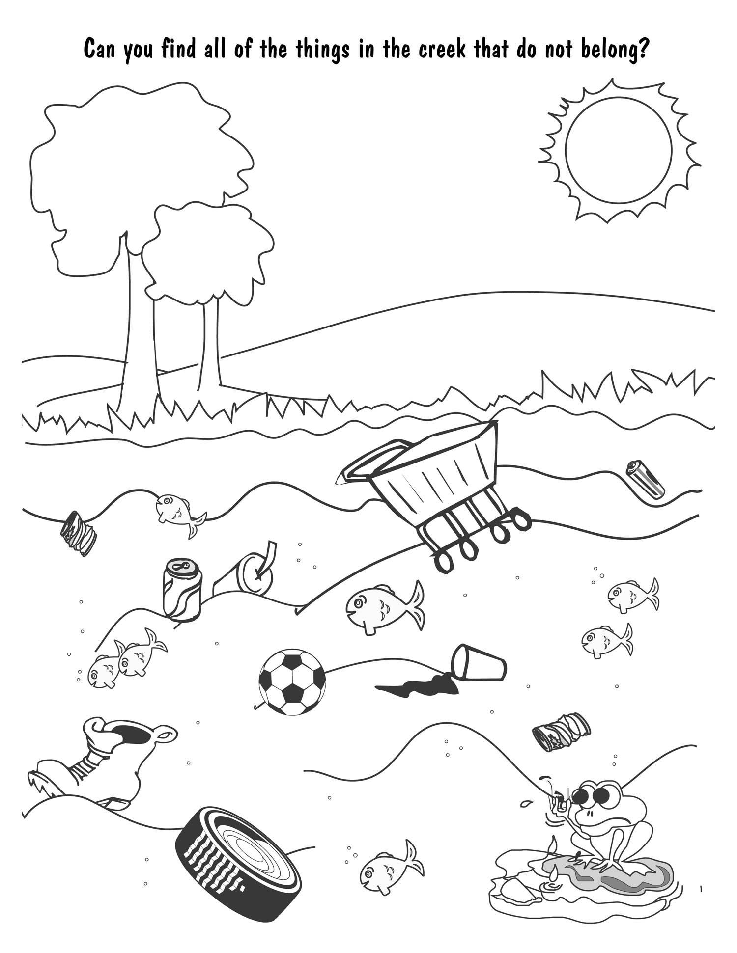 Water Pollution Coloring Pages At Getdrawings