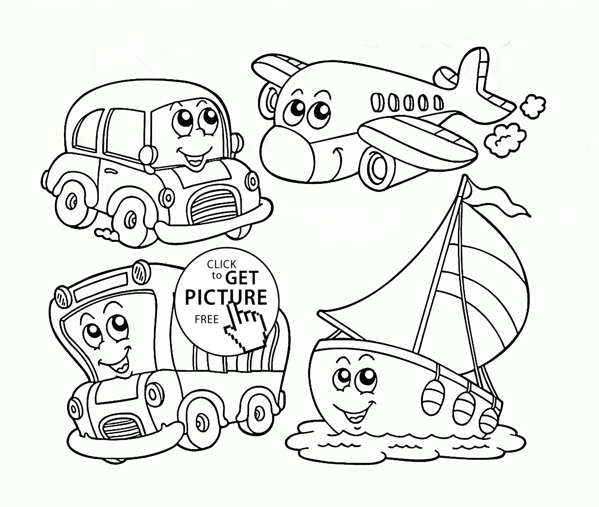 Water Transportation Coloring Pages At Getdrawings