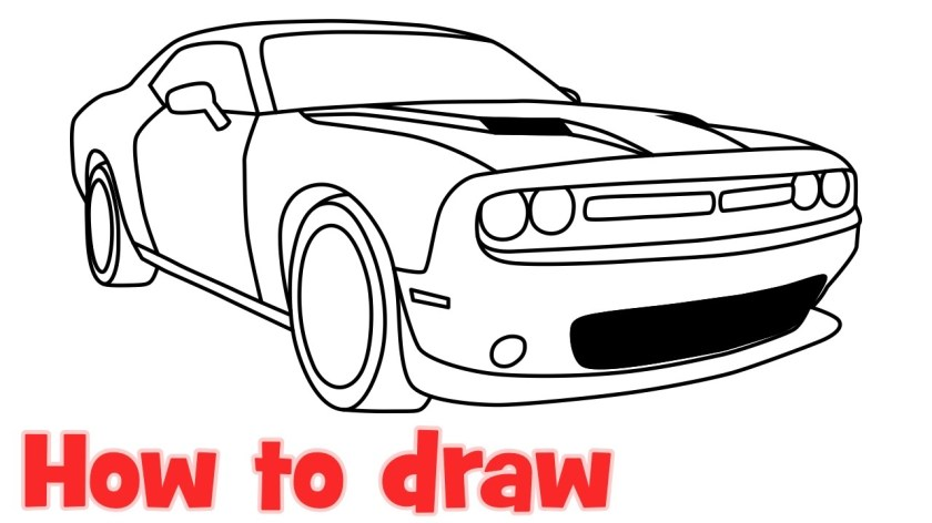 19 dodge challenger drawing at getdrawings  free download