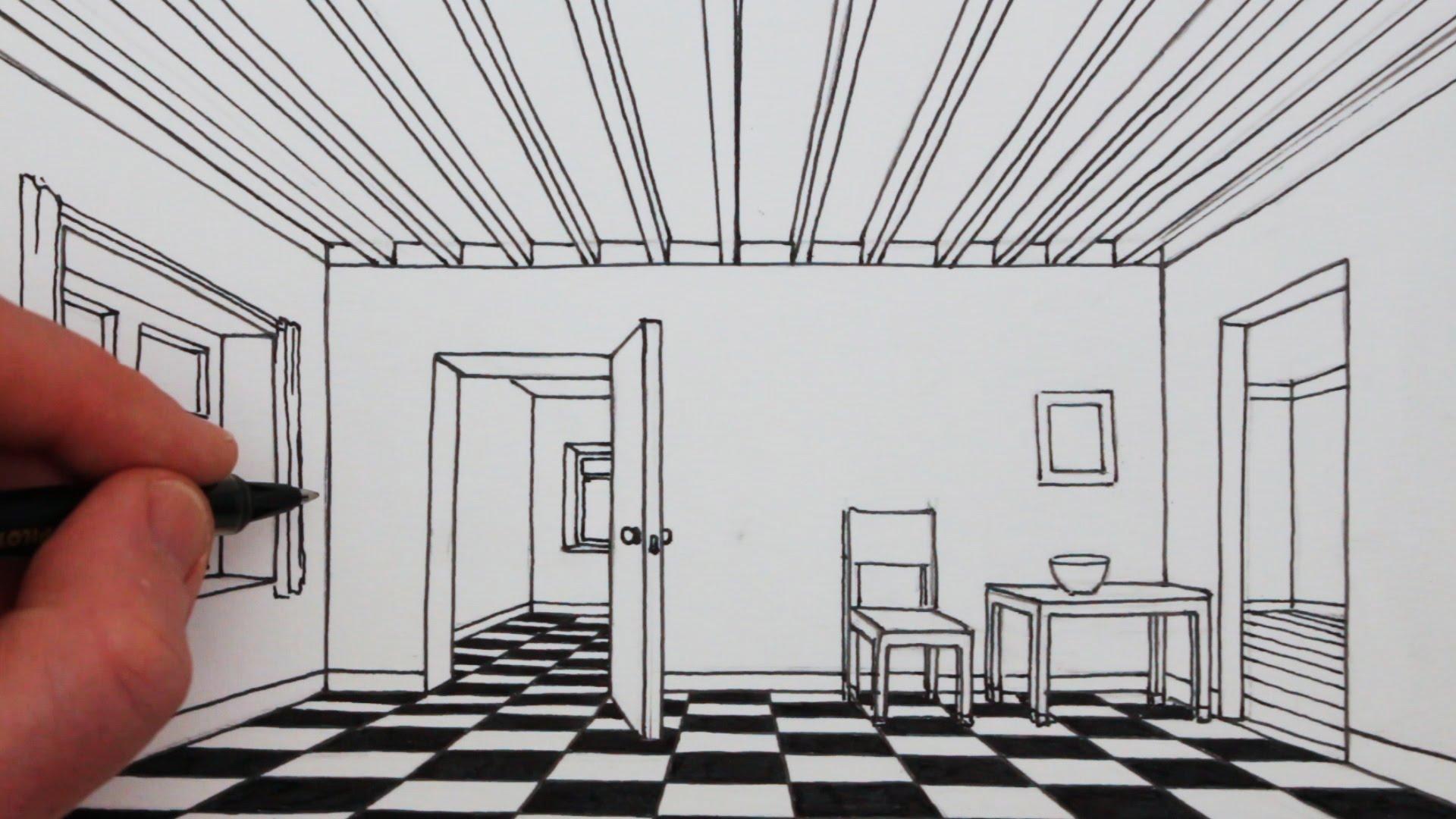 Bedroom Perspective Drawing At Getdrawings