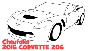 Chevrolet Corvette Drawing at GetDrawings | Free for