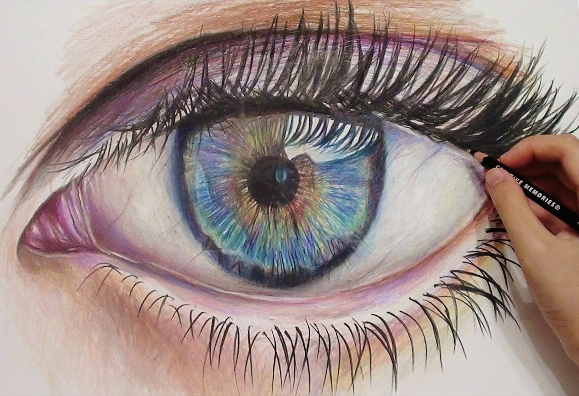 Colored Pencil Eye Drawing at GetDrawings | Free download