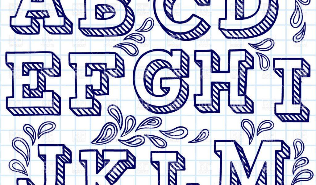Fancy Bubble Letters Alphabet