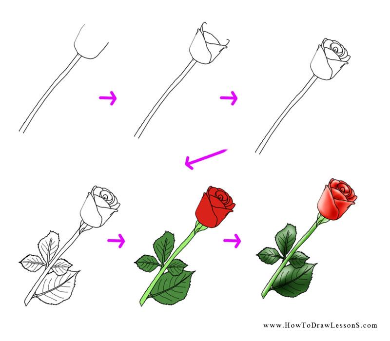 Flower Design Drawing Step By Kayaflower Co