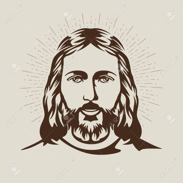 Face Of Jesus Drawing at GetDrawings com   Free for personal use     1300x1300 Face Of Jesus Christ Royalty Free Cliparts  Vectors  And Stock