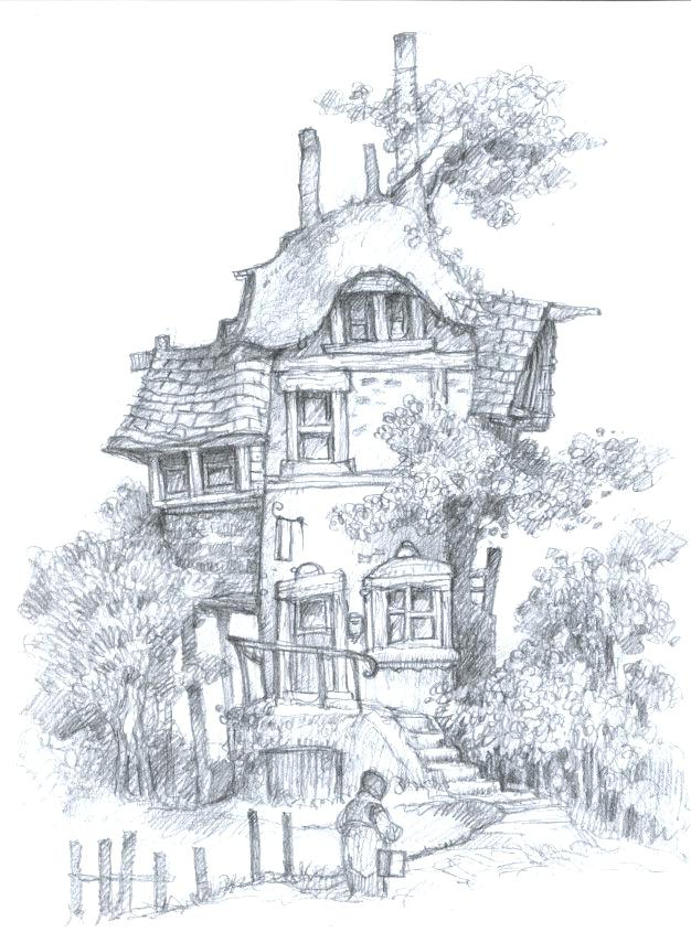 fairy house drawing at getdrawings  free download