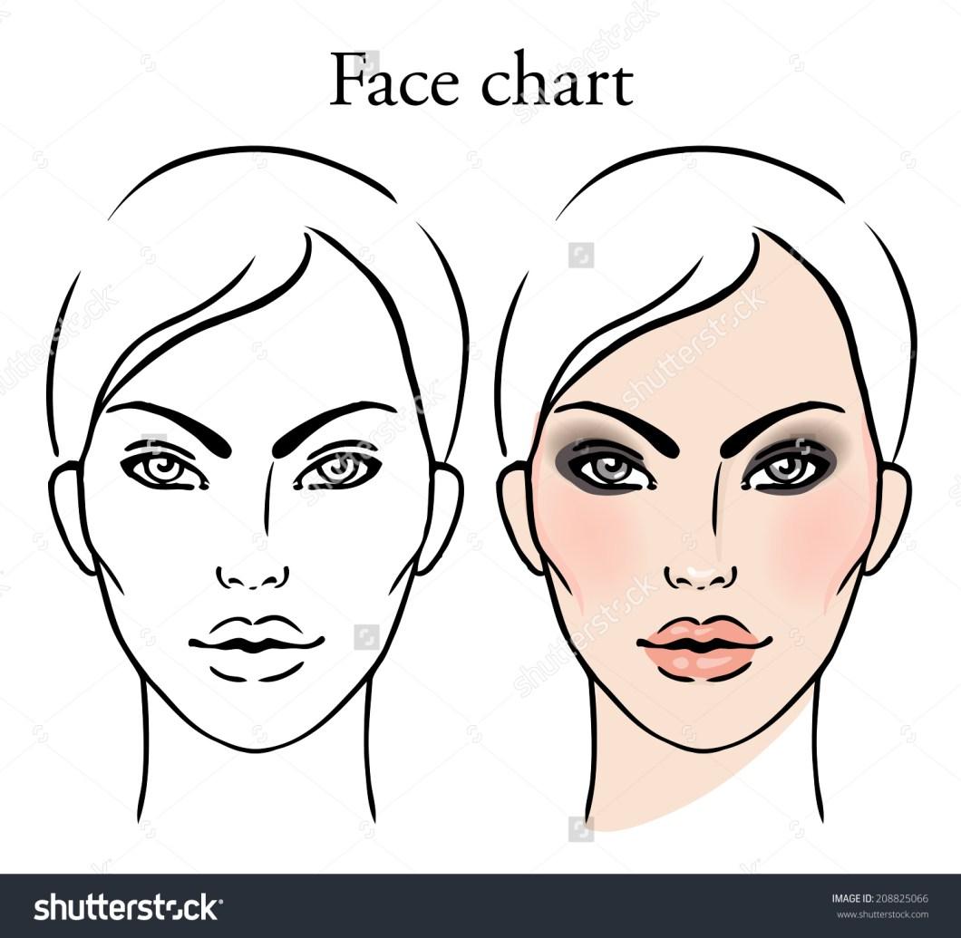 Makeup Face Chart Template Amtmakeupco