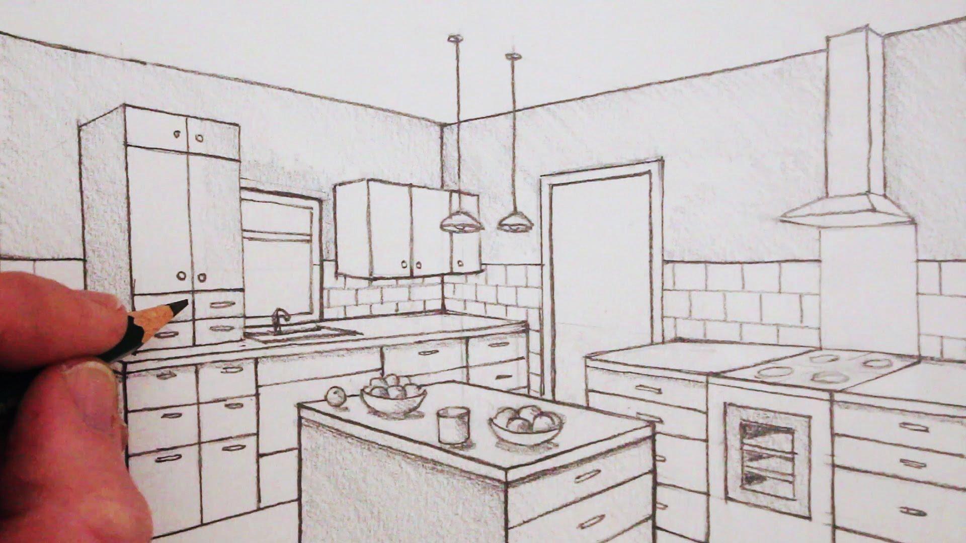 Interior Perspective Drawing At Getdrawings