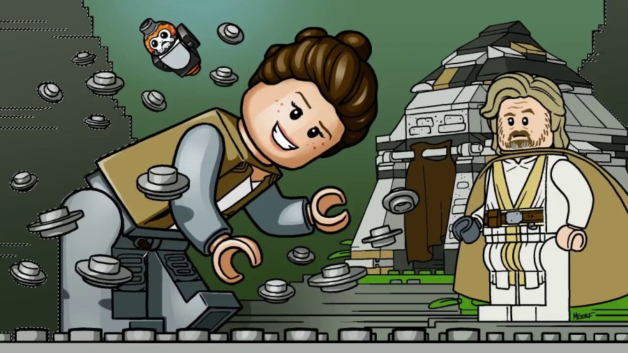 Lego Star Wars Drawing at GetDrawings com   Free for personal use     LEGO Star Wars Last Jedi Ahch To Training Island