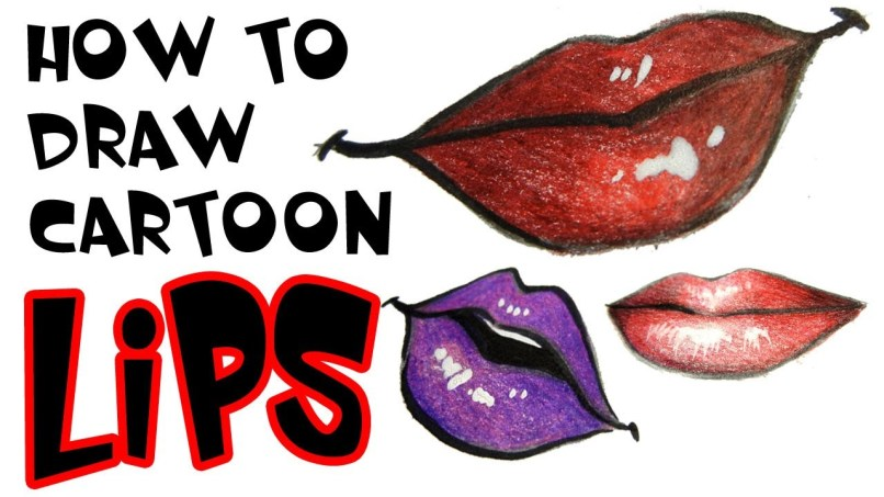 Cartoon Character With Red Lipstick Lipstutorial Org