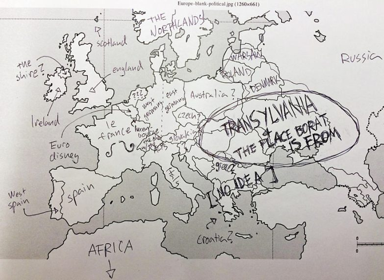Map Of Europe Drawing at GetDrawings com   Free for personal use Map     880x641 Americans Were Asked To Place European Countries On A Map  Here 39s