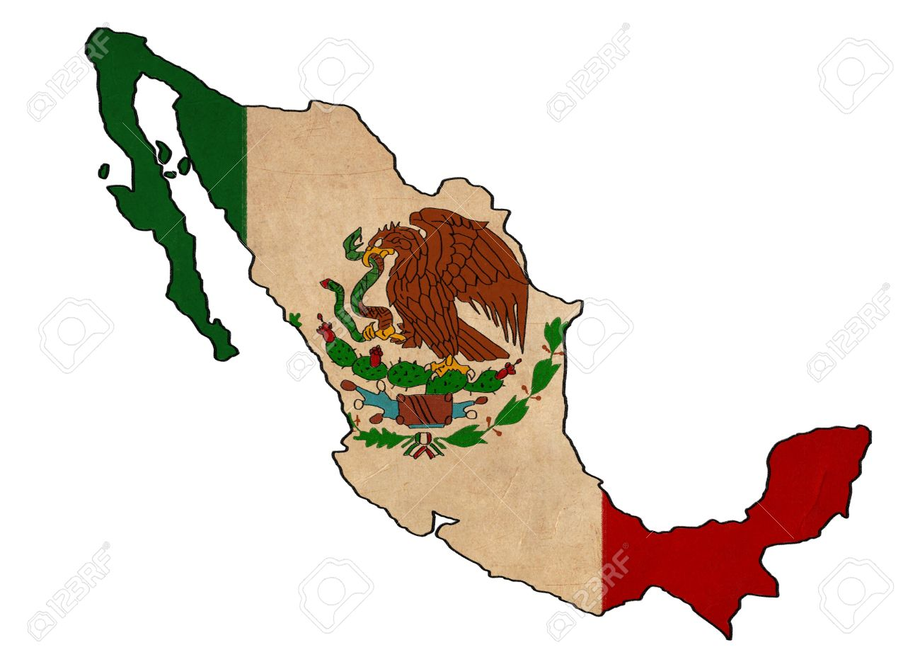 Mexican Flag Drawing At Getdrawings