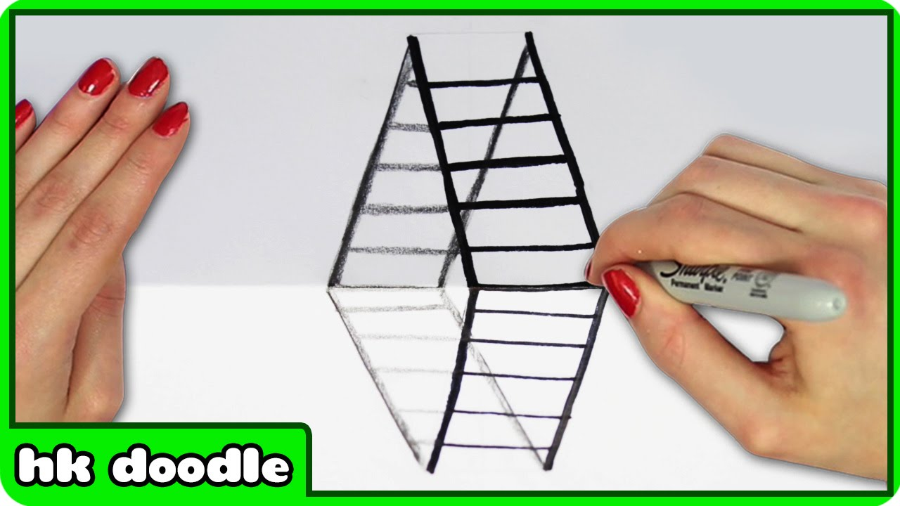 Step Step Optical Illusion Lined Paper