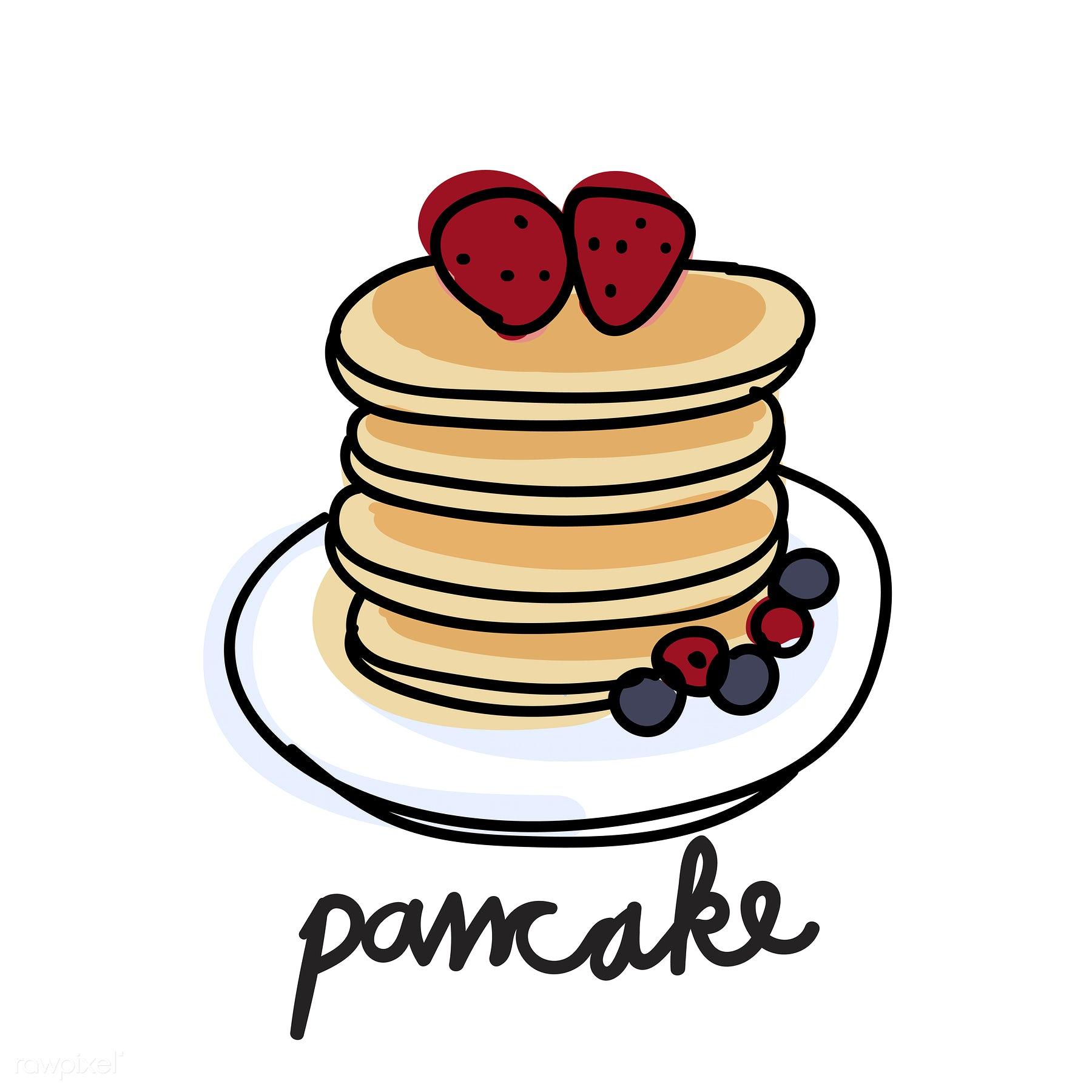 Pancake Drawing At Getdrawings