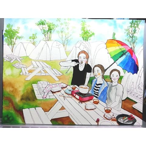 Picnic Scene Drawing At Free For Personal Use Picnic Scene Drawing Of Your Choice