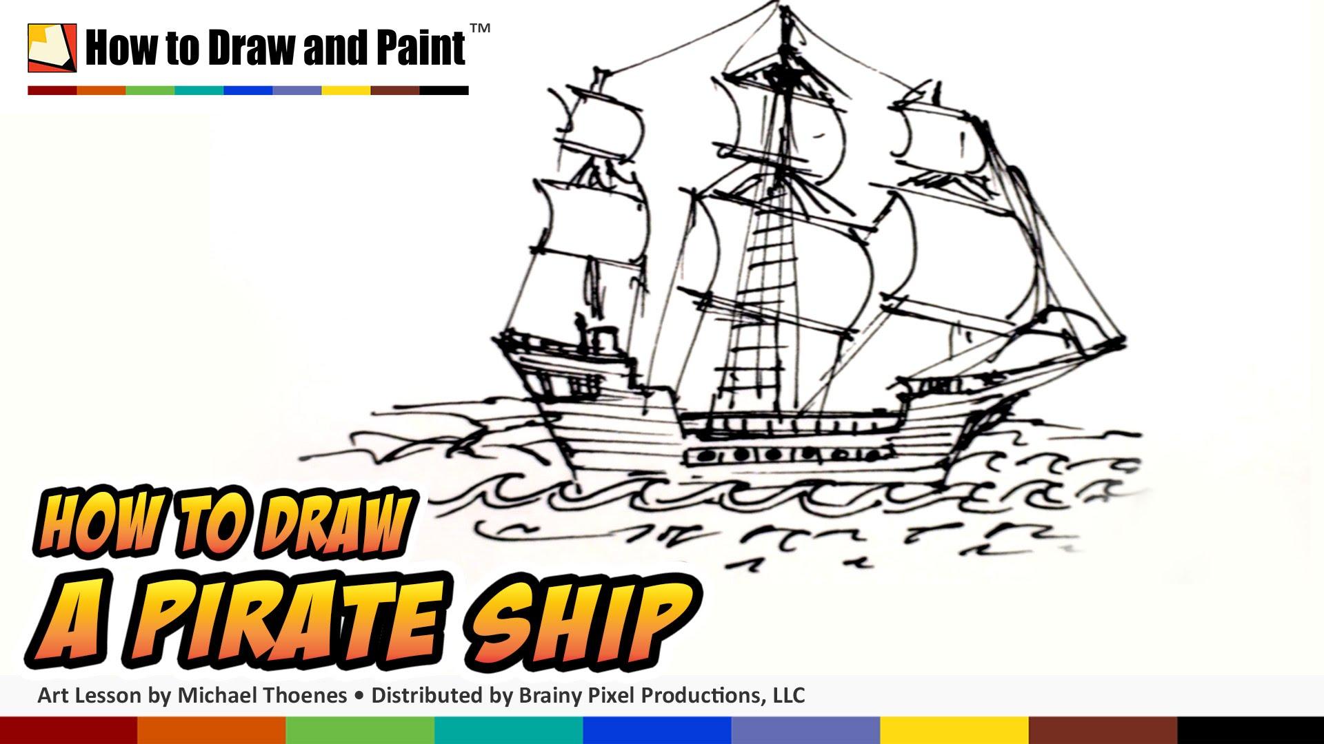 Pirate Ships Drawing At Getdrawings