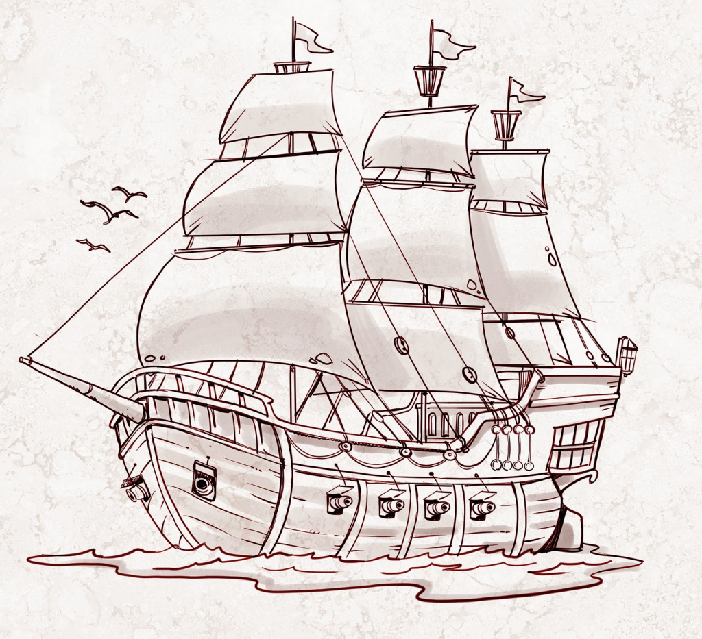 Pirates Ship Drawing At Getdrawings