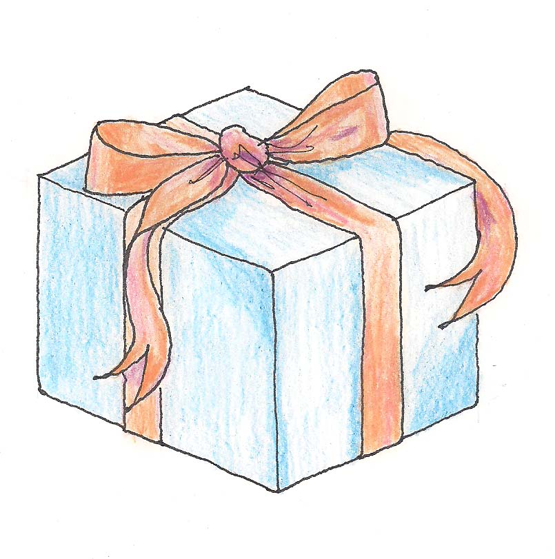 Present Box Drawing At Free For Personal