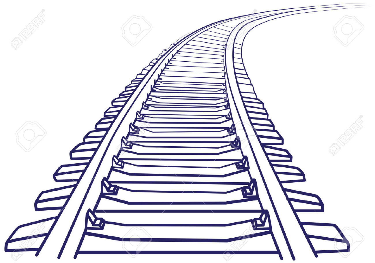Railway Track Drawing At Getdrawings