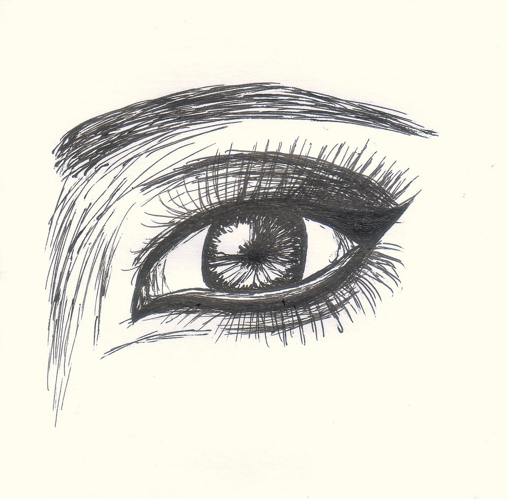 Simple Eye Drawing At Getdrawings