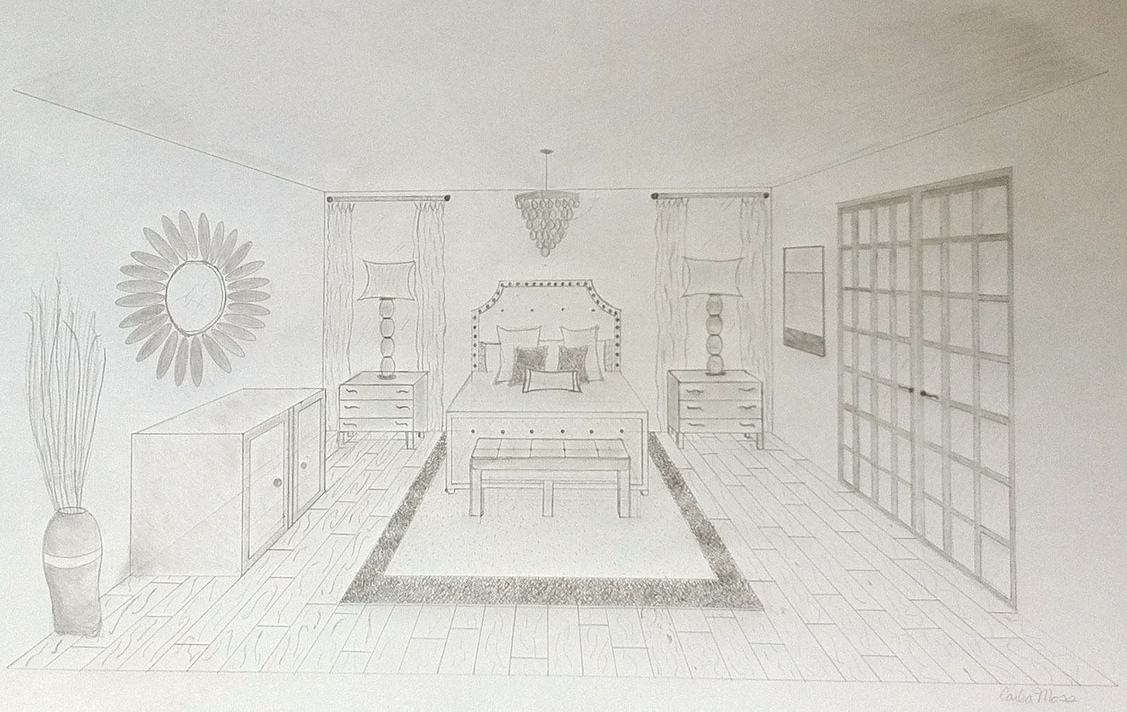 Simple One Point Perspective Drawing At Getdrawings