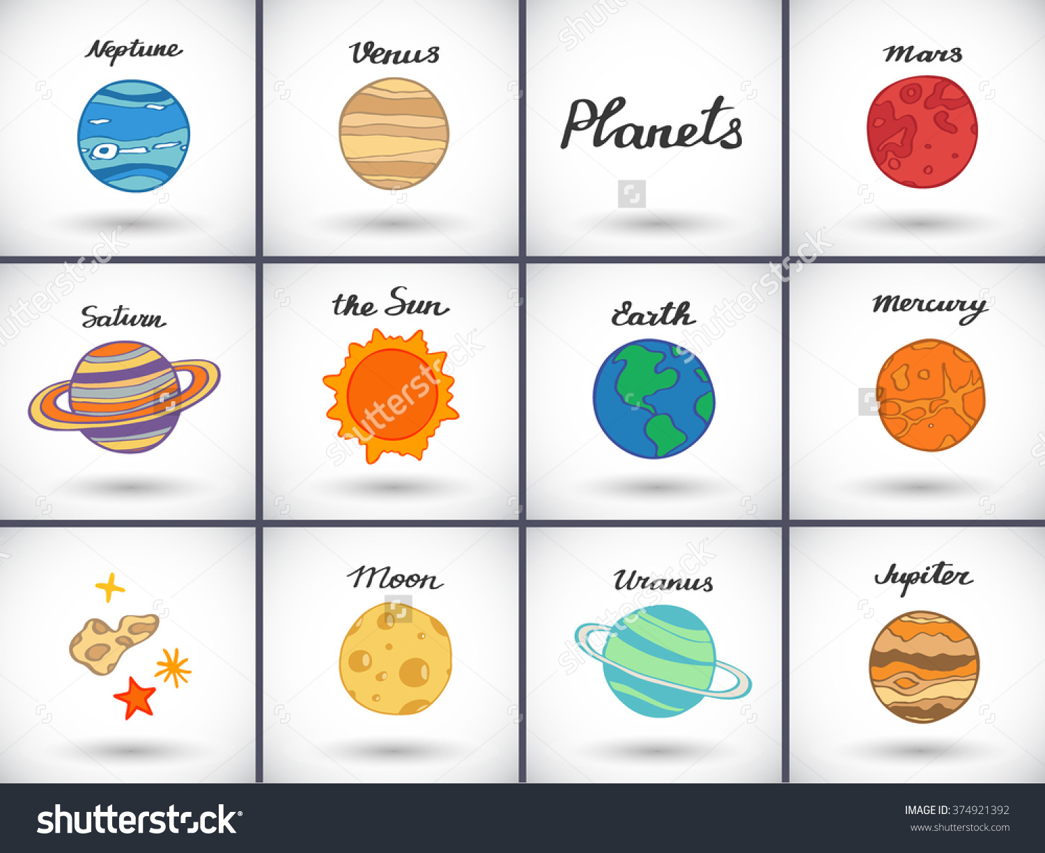 Solar System Cartoon Drawing At Getdrawings