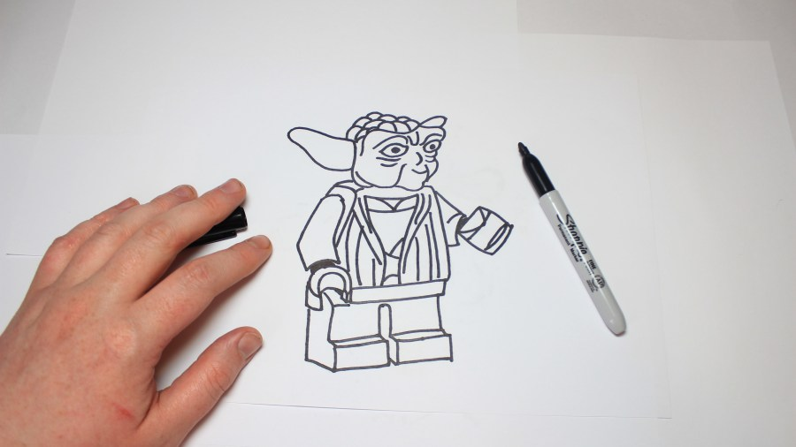 Star Wars Lego Drawing at GetDrawings com   Free for personal use     4096x2301 Easy How To Draw Lego Star Wars Yoda