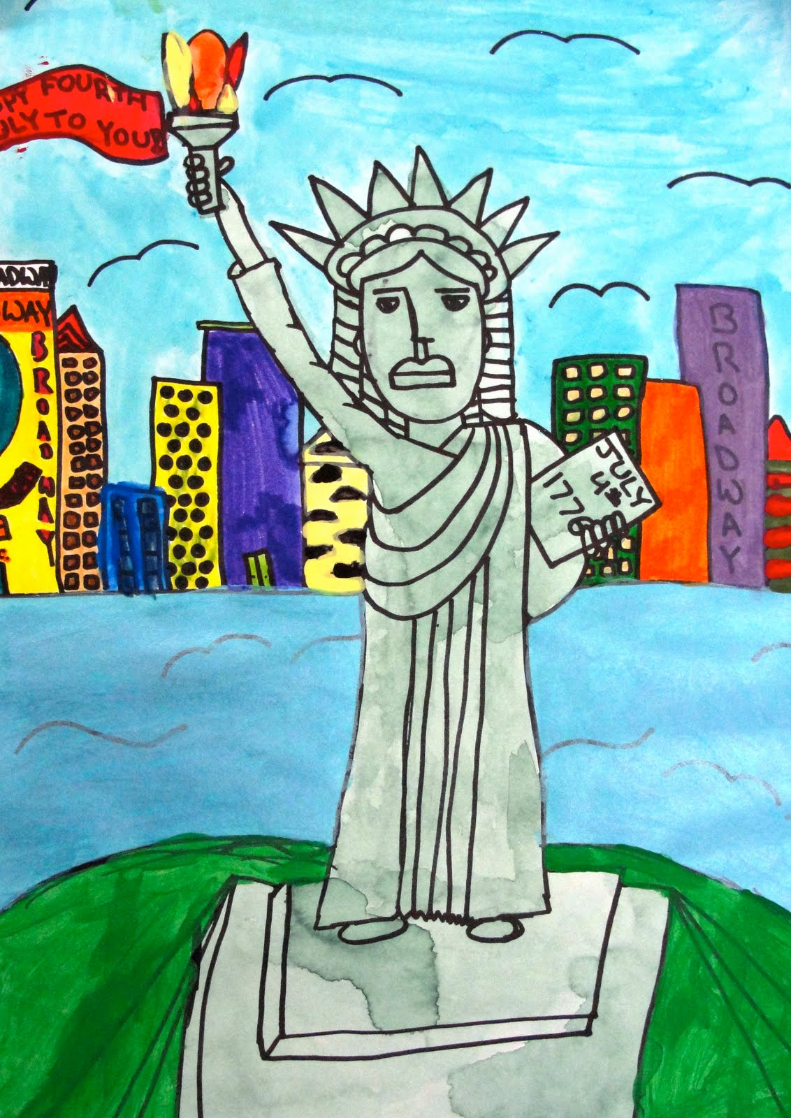 Statue Of Liberty Drawing For Kids At Getdrawings