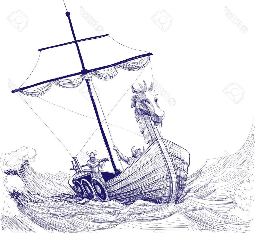 Viking Boat Drawing At Getdrawings